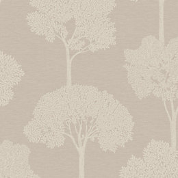 Statement Ambleside Taupe Tree Mica highlight Wallpaper