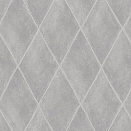 Statement Etna Grey Diamond Mica Highlight Wallpaper