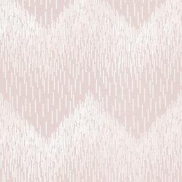 Statement Pink Chevron Textured Wallpaper