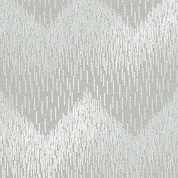 Statement Grey Chevron Textured Wallpaper