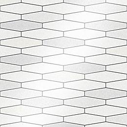 Holden Décor Black & White Tile Textured Wallpaper