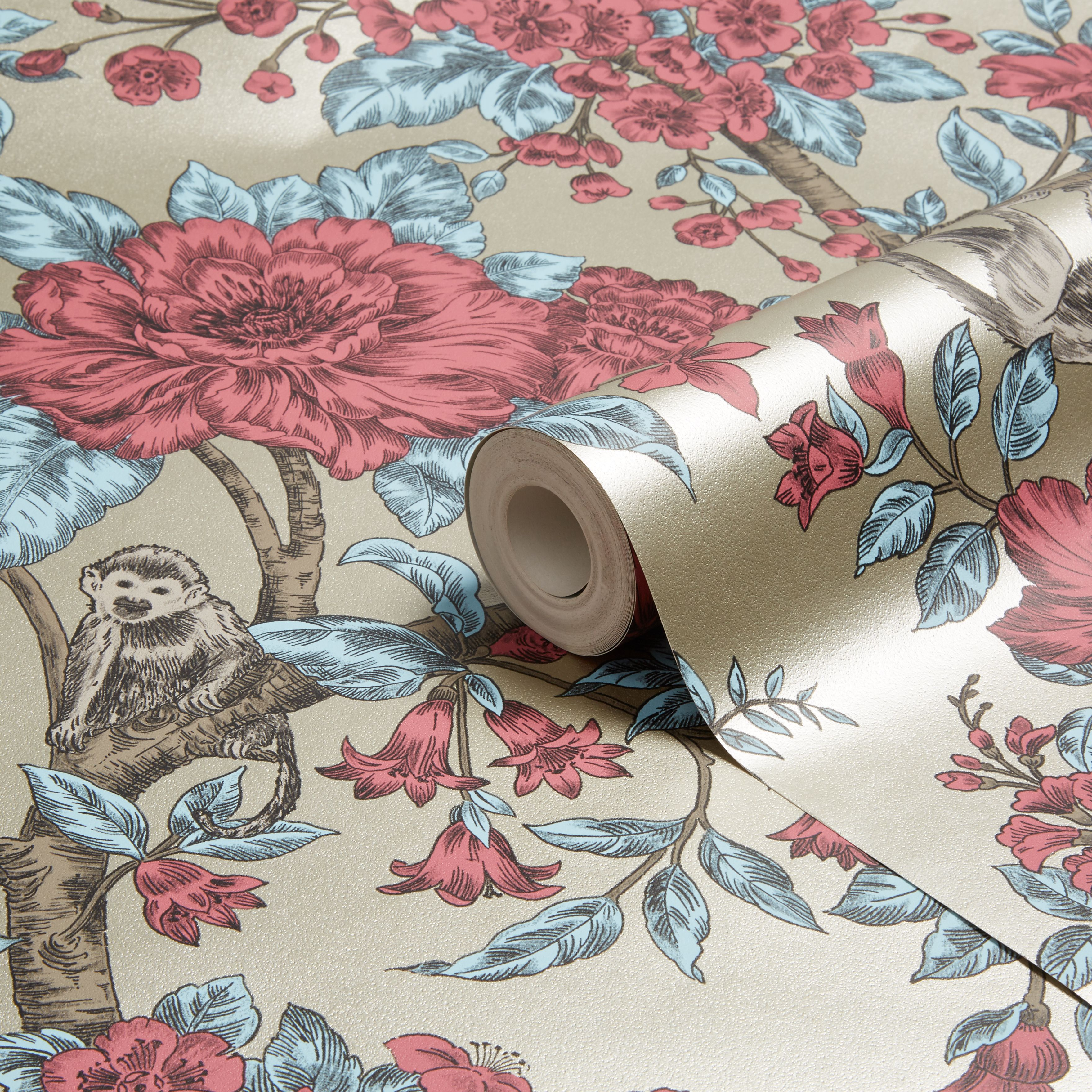 Sumatra Gold Floral Wallpaper | Departments | TradePoint