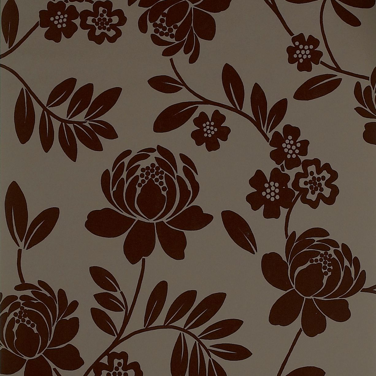 Statement Kristen Brown Floral Wallpaper Departments