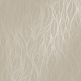 Holden Grey Feather Metallic Wallpaper