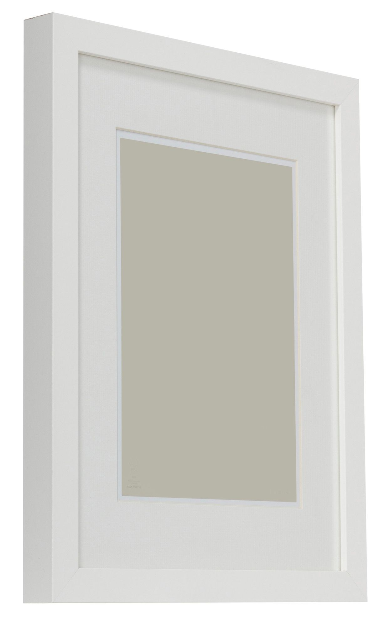 White Single Frame Wood Picture Frame (H)440mm x (W)340mm ...