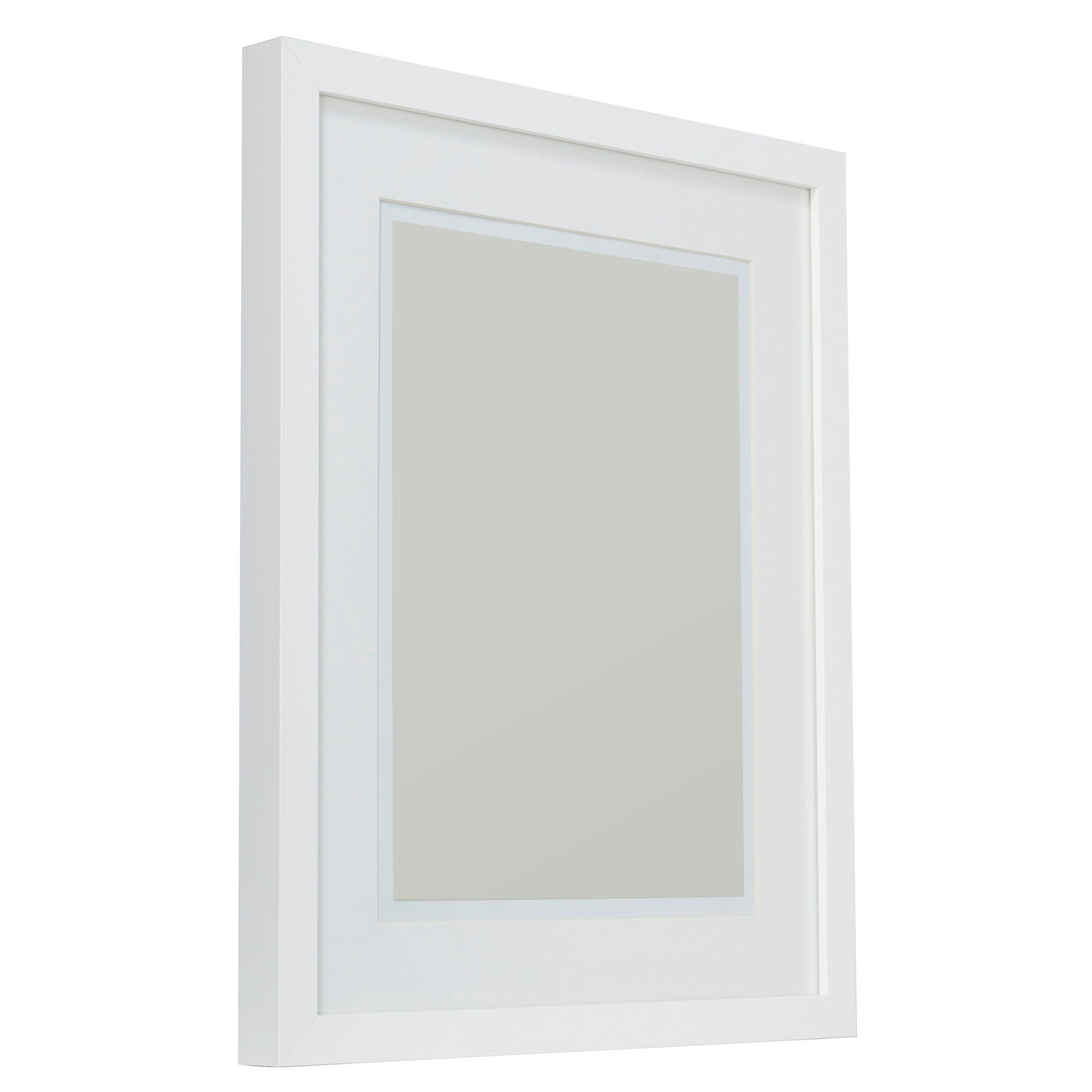 White Single Frame Wood Picture Frame (H)540mm x (W)440mm ...