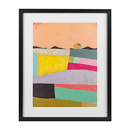 Live colourfully Multicolour Framed art (W)430mm (H)530mm