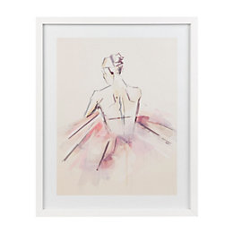Ballerina White Framed art (W)430mm (H)530mm