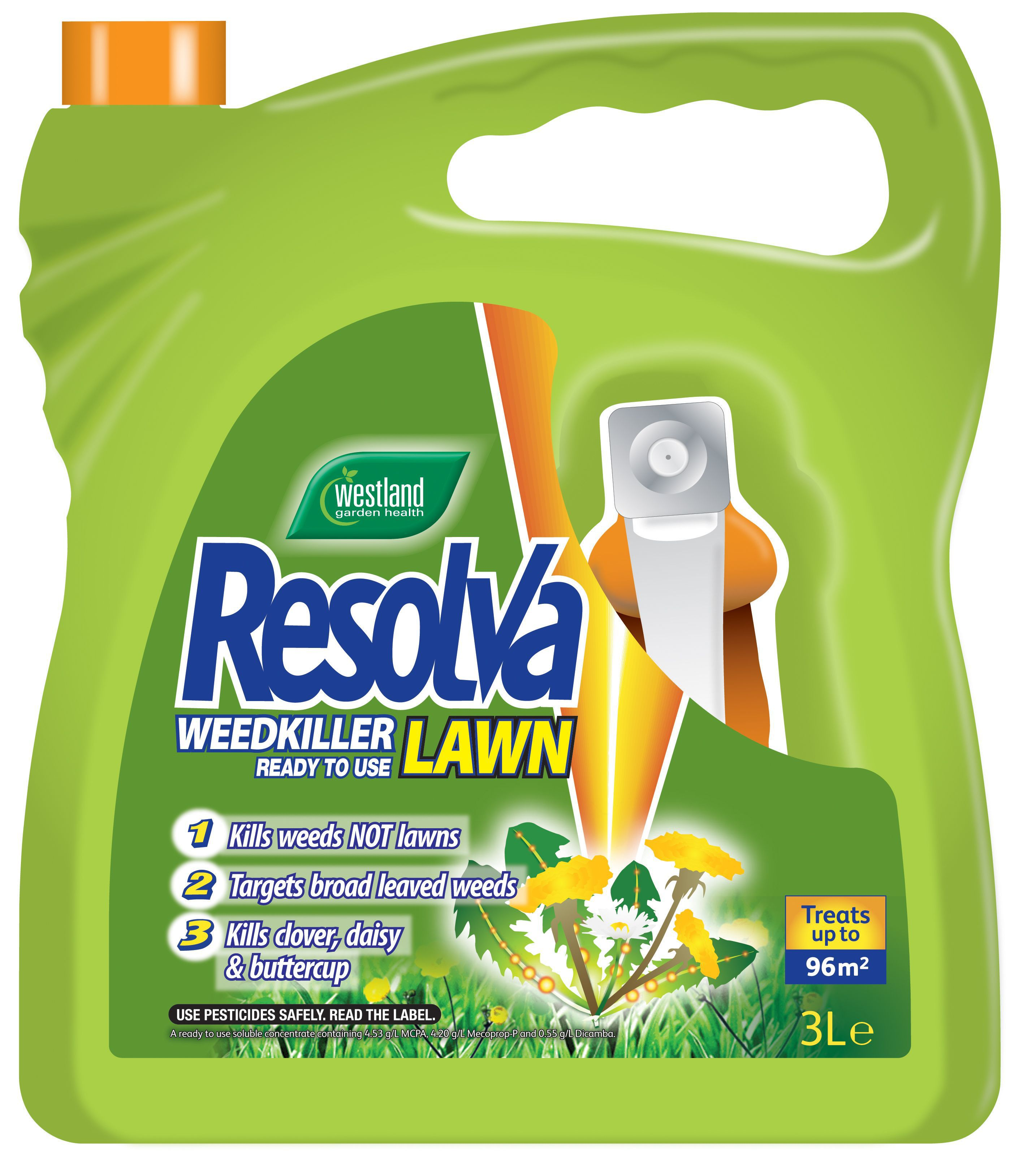 resolva lawn ready to use weed killer 3l. Black Bedroom Furniture Sets. Home Design Ideas