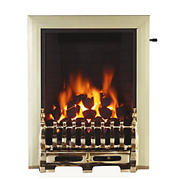 Focal Point Blenheim Brass Slide Control Inset Gas