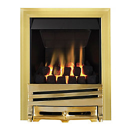 Focal Point Horizon multi flue Brass Remote control