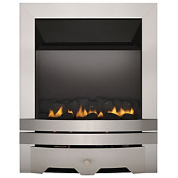 Focal Point Lulworth flue less Brushed Stainless Steel