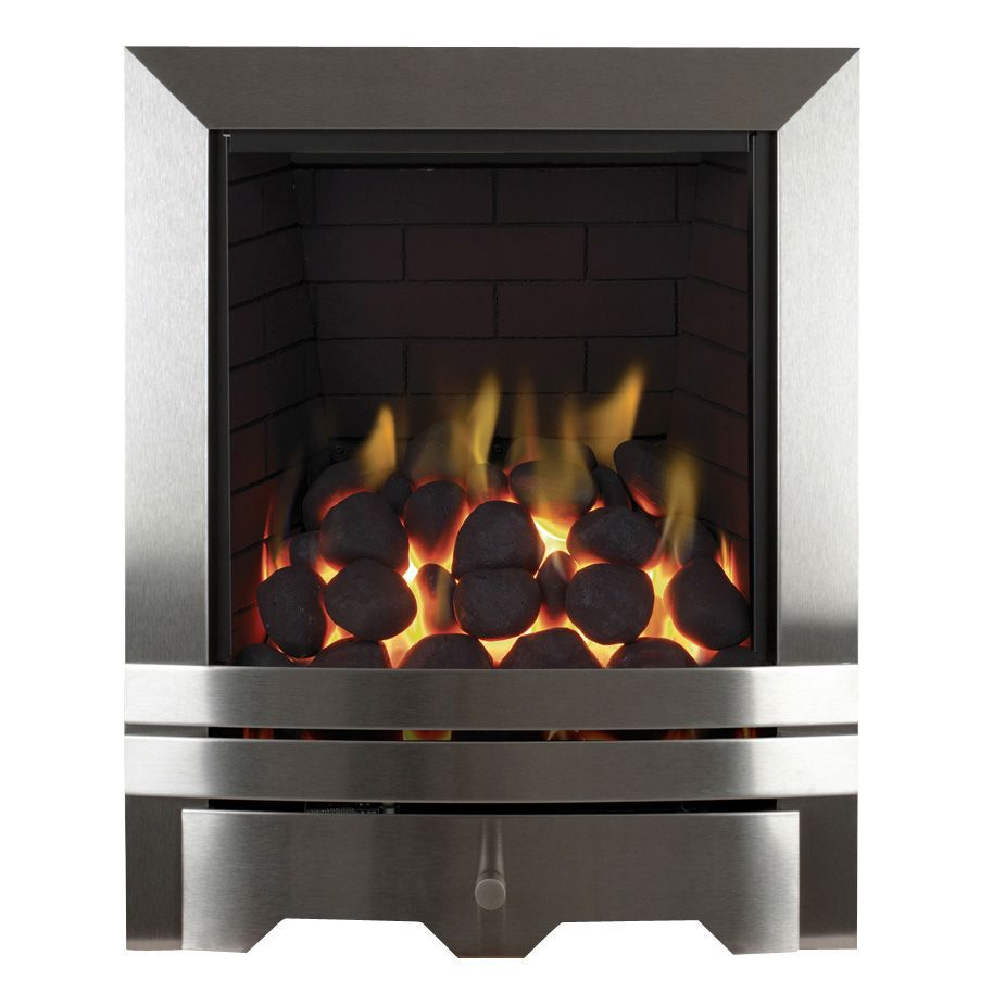 Focal Point Chrome Chrome Manual Control Inset Gas Fire