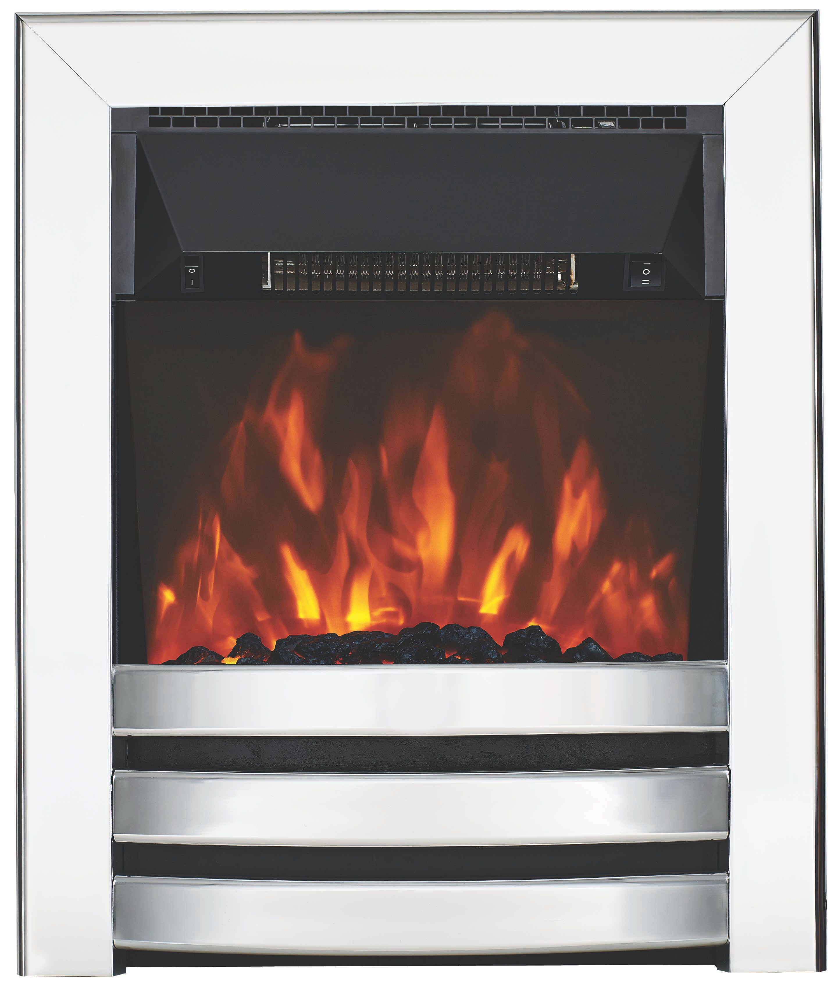 Focal Point Langham Chrome Electric Inset Electric Fire