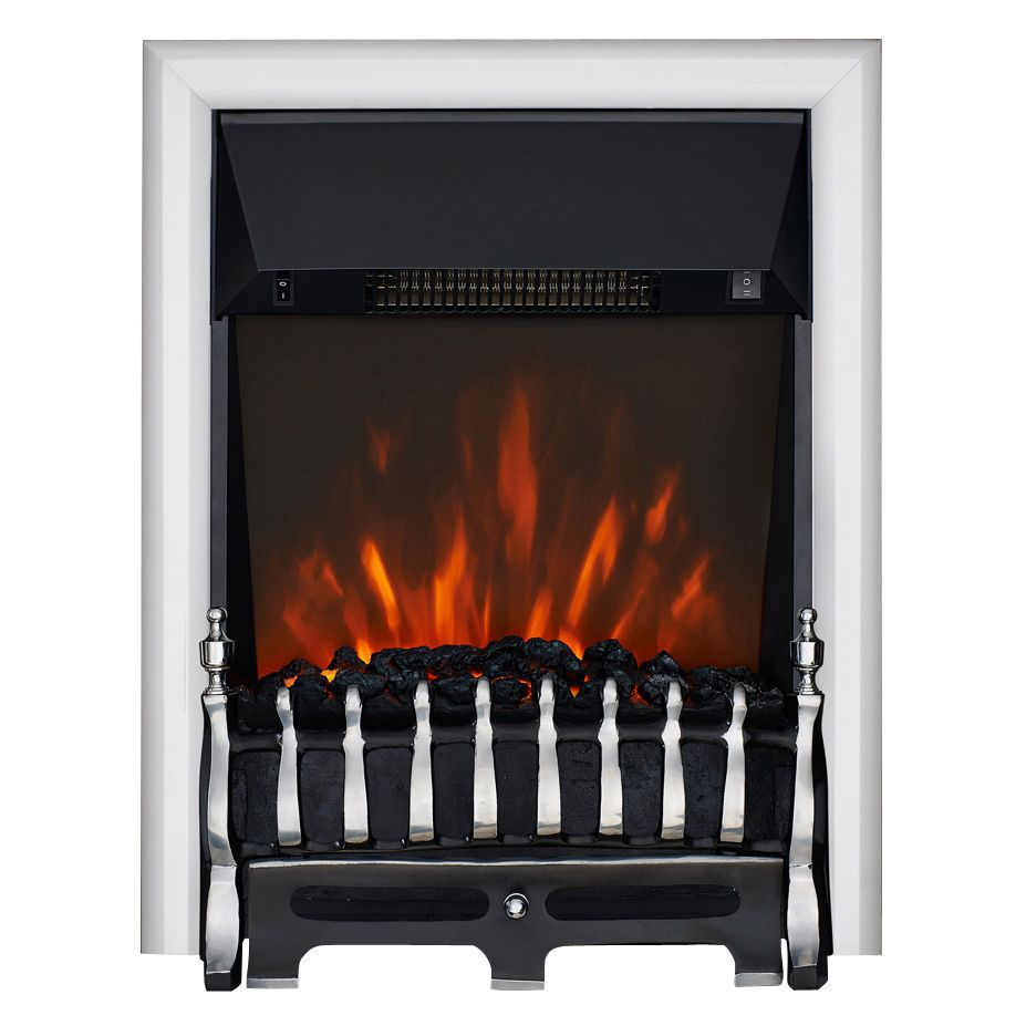 Focal Point Electric Fire: Focal Point Blenheim Chrome LED Electric Fire