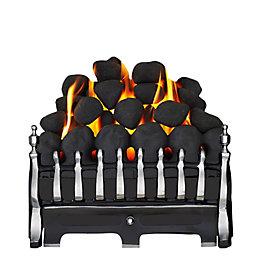Focal Point Blenheim Black Manual Control Inset Gas