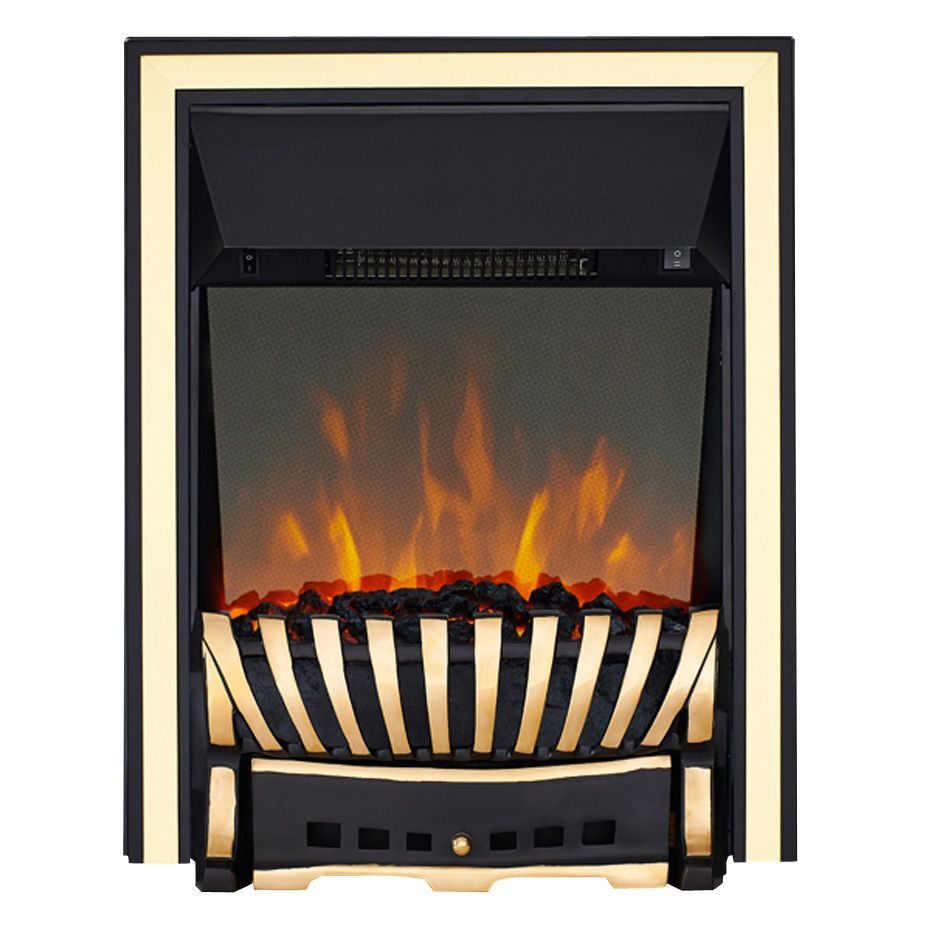 Focal Point Electric Fire: Focal Point Elegance Black LED Reflections Electric Fire