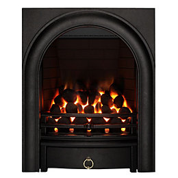 Focal Point Arch Black Remote control Inset Gas