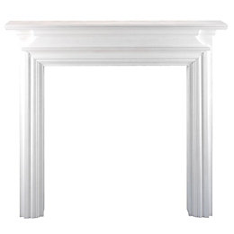 Regent White MDF Fire Surround