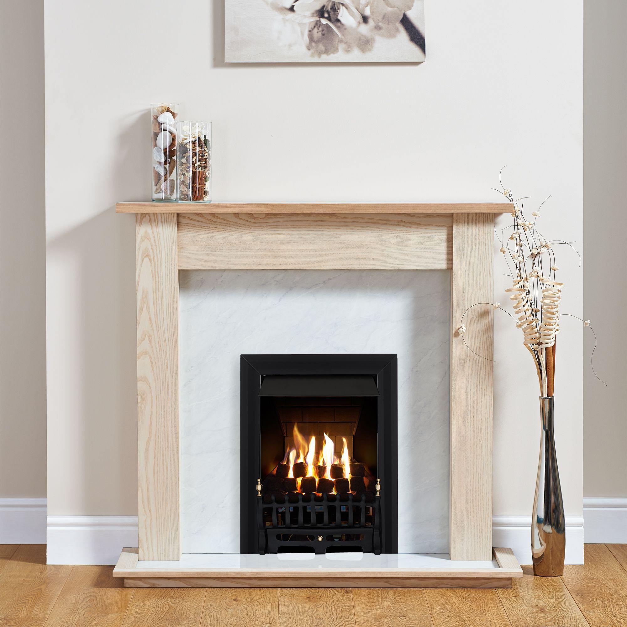 Focal Point Blenheim Black Inset Gas Fire Suite