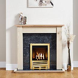 Focal Point Horizon Brass Inset Gas Fire Suite