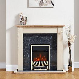 Focal Point Elegance Brass & Black Electric Fire