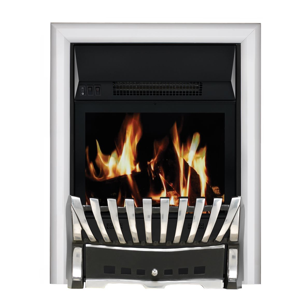 Focal Point Electric Fire: Focal Point Elegance Chrome LCD Remote Control Electric