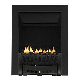 Focal Point Elegance Flue Less Black Manual Control