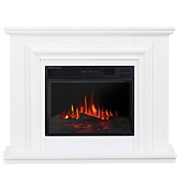 Focal Point Amersham White LED Electric Fire Suite