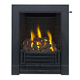 Focal Point Finsbury Black Slide Control Inset Gas