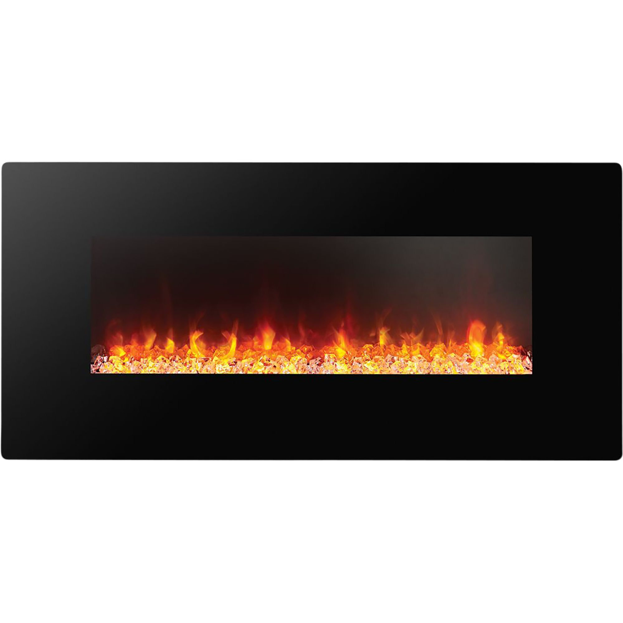 Focal Point Electric Fire: Focal Point Columbus Black Remote Control Electric Fire