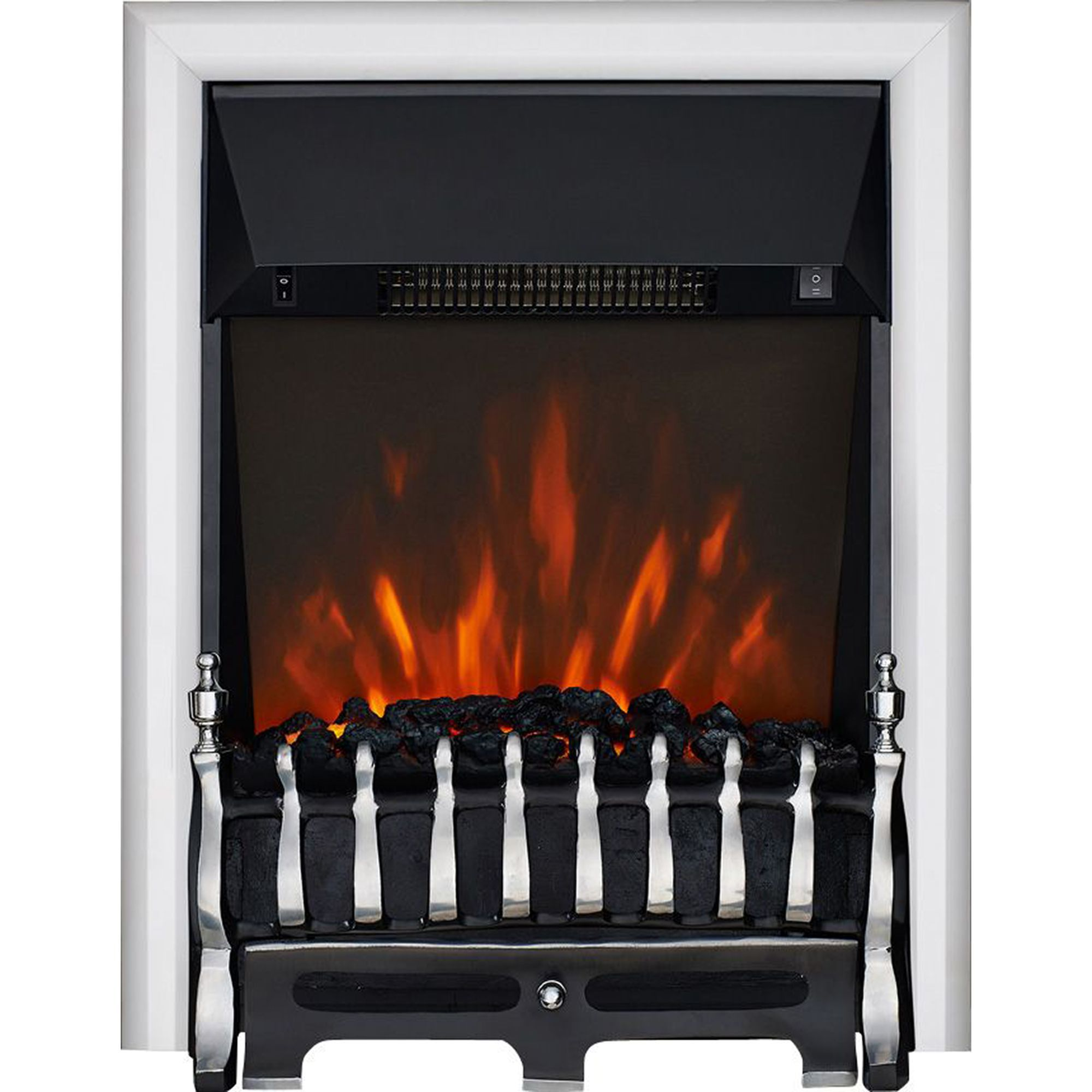Focal Point Electric Fire: Focal Point Blenheim Chrome Effect Electric Fire