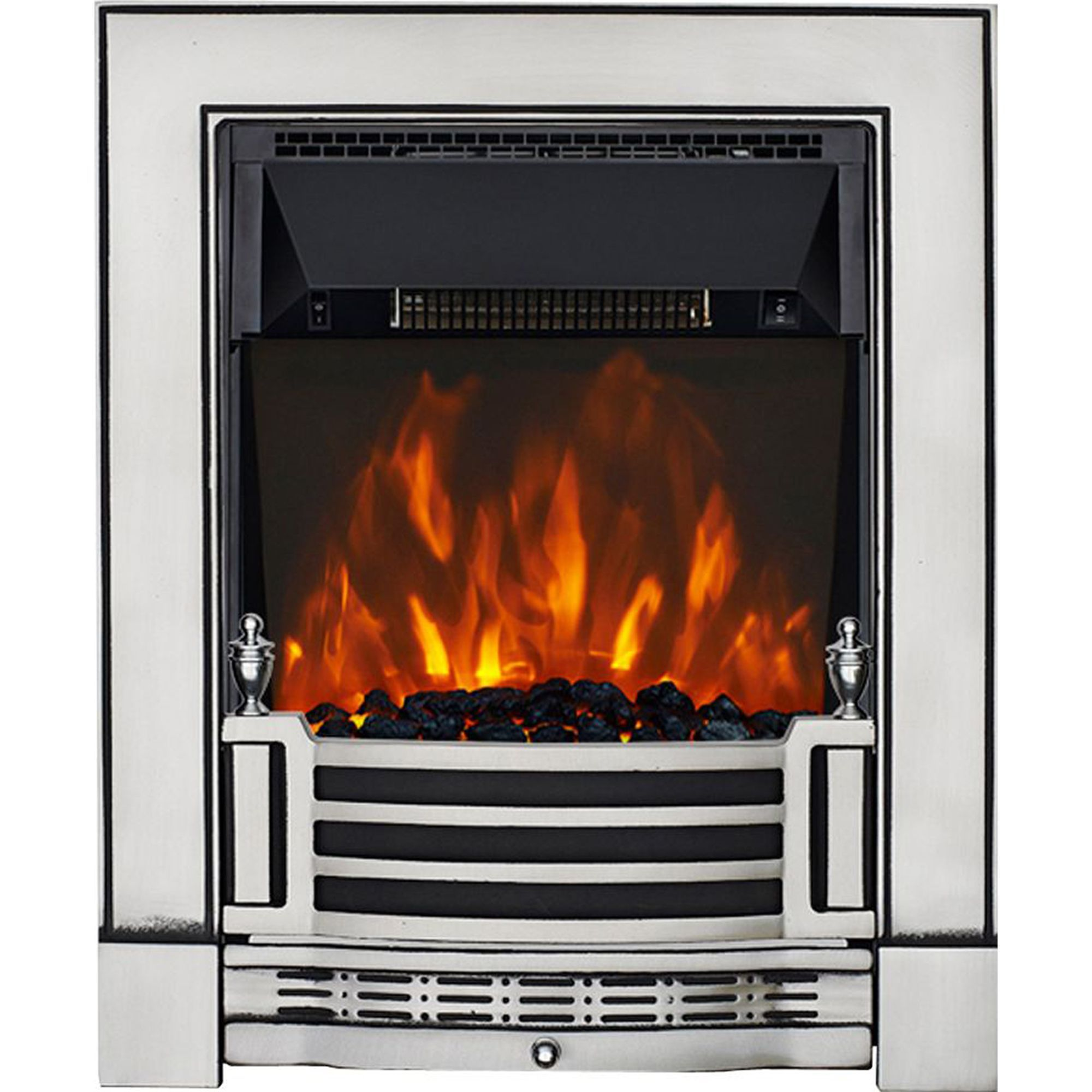Focal Point Electric Fire: Focal Point Finsbury Chrome Effect Electric Fire