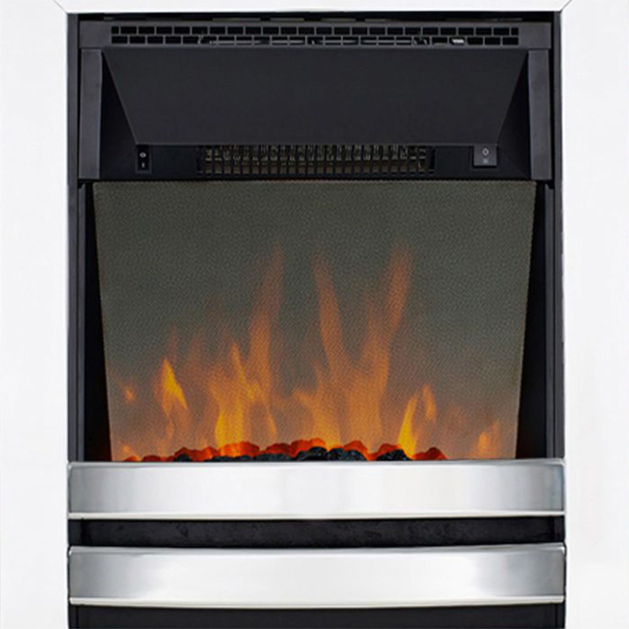 Focal Point Electric Fire: Focal Point Langham Chrome Effect Electric Fire