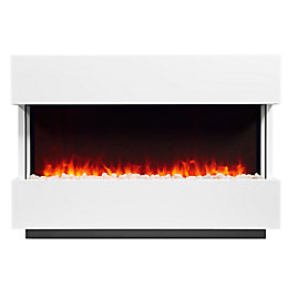 Focal Point Panoramic White LED Electric fire suite