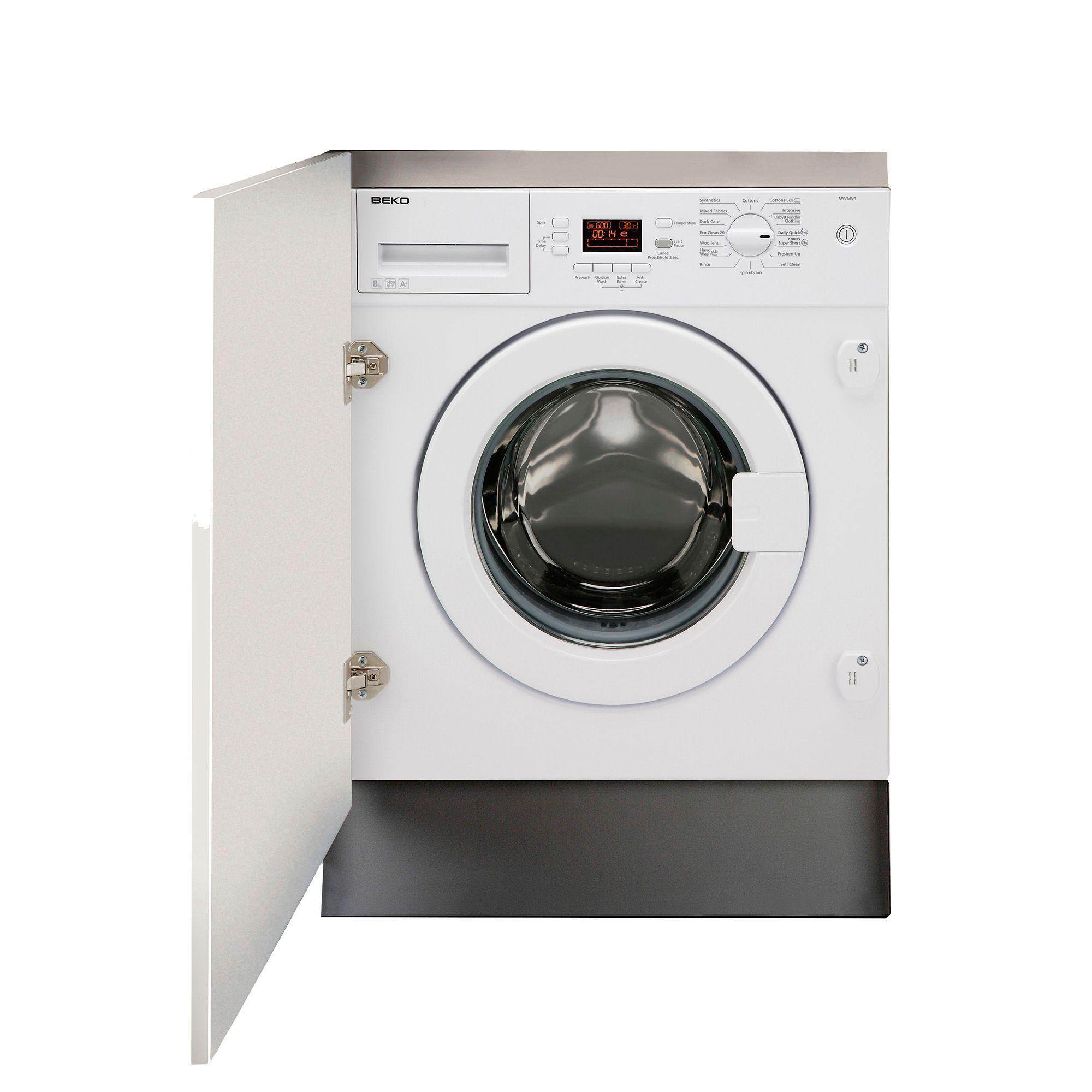 beko qwm84 white built in washing machine departments. Black Bedroom Furniture Sets. Home Design Ideas