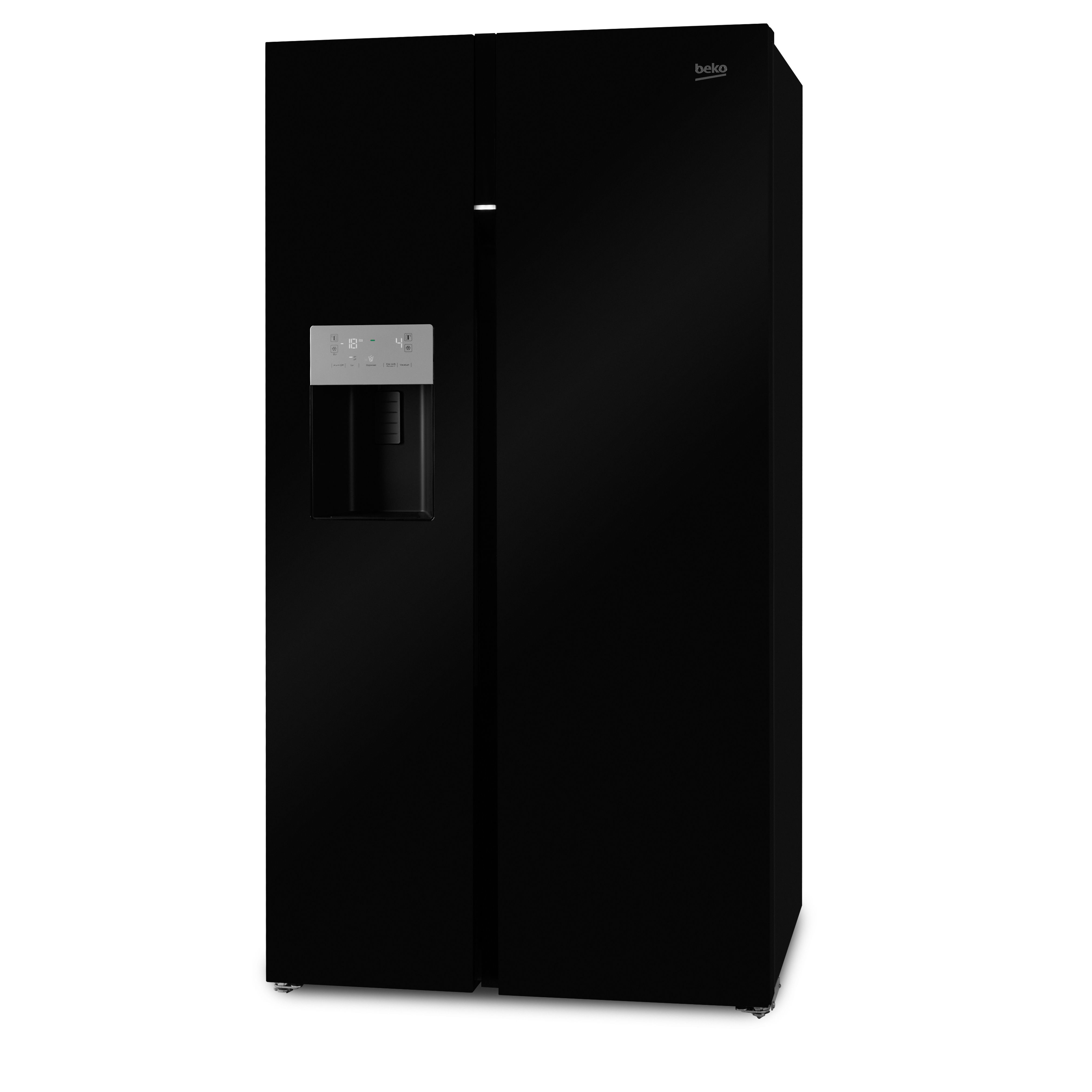 beko asgn542b american style black freestanding side by. Black Bedroom Furniture Sets. Home Design Ideas