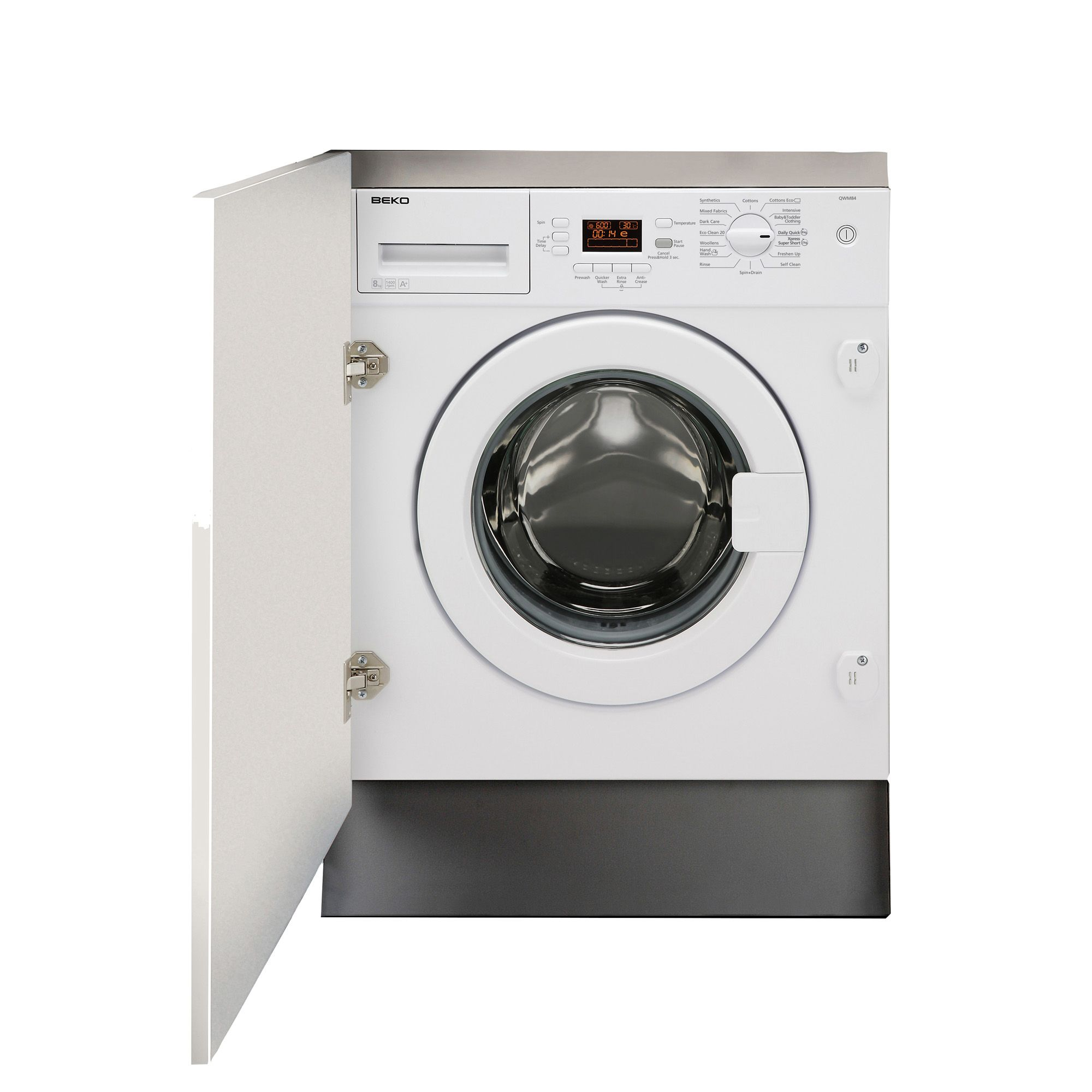 beko wiy84540f white built in washing machine. Black Bedroom Furniture Sets. Home Design Ideas