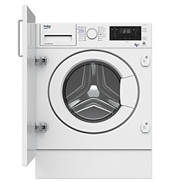 Beko WDIY854310F White Built in Washer dryer