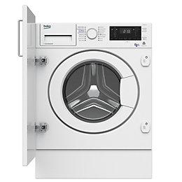 Beko WDIY854310F White Built in Washer dryer