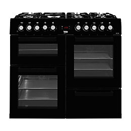 Beko Dual fuel Cooker with Gas hob, KDVF100K