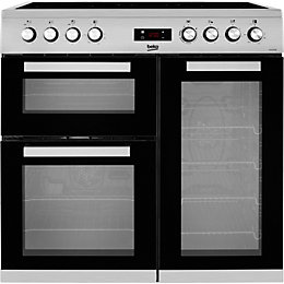 Beko Electric Cooker with Ceramic Hob, KDVC90X