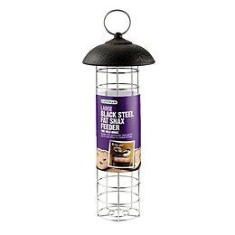 Gardman Black Steel Bird feeder (H)190mm