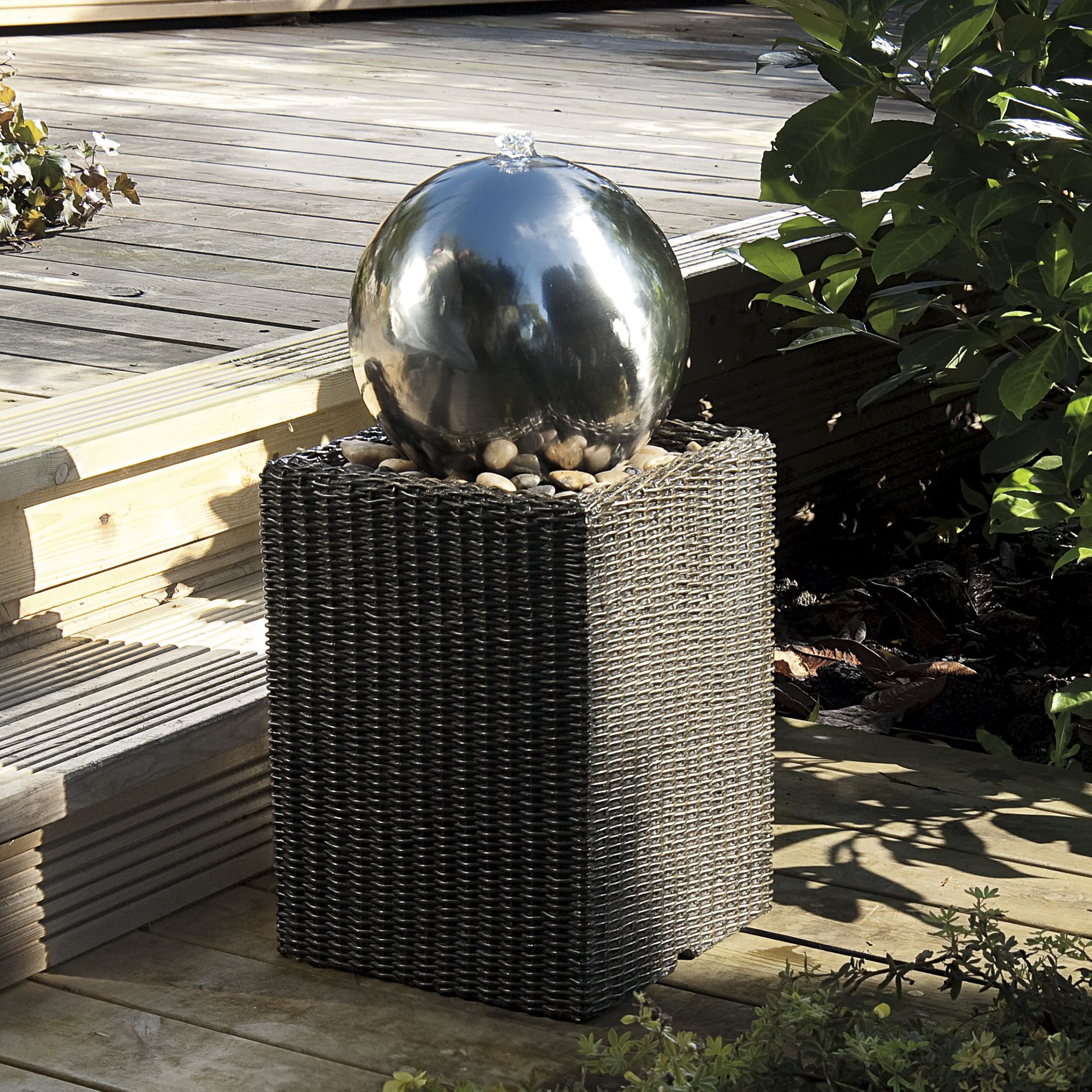 Gardman Rattan Tower Water Feature Departments Diy At B Amp Q