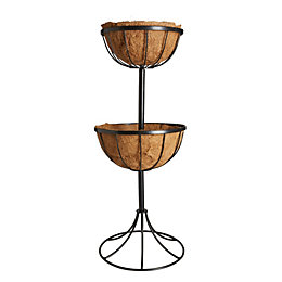 Gardman Traditional Georgian Black Fountain Basket 350 mm