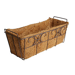 Distressed Through Planter (H)21cm (L)53cm