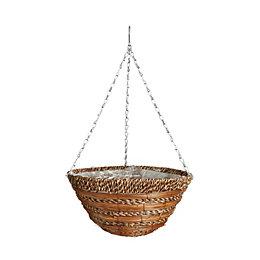 Gardman Sisal Rope & fern Hanging basket 355.6
