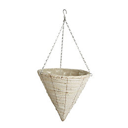 Gardman Natural Whitewash Hanging Basket 355.6 mm