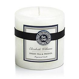 Elizabeth Williams Sweet Pea & Freesia Pillar Candle