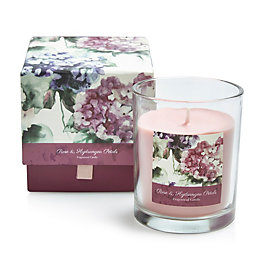 Bloom Rose & Hydrangea Petal Boxed Jar Candle